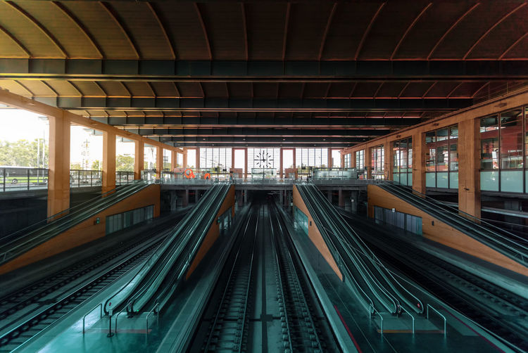 Escalators at subway station