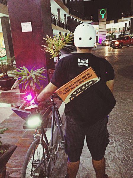 ¿Bici + Pizza? Bikemessenger Messlife Bicimensajero Pizza