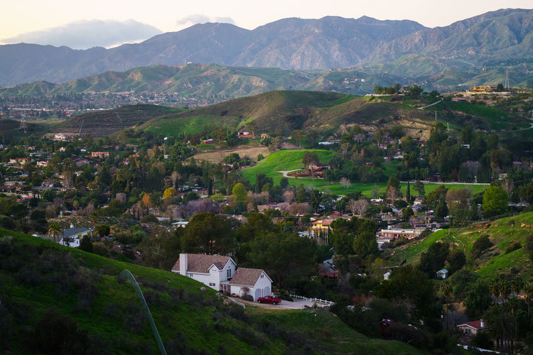 California Village View North Hollywood Village View Village Residential District Mountain Architecture Environment Building Building Exterior Tree Plant Landscape Scenics - Nature Mountain Range City House Land Built Structure