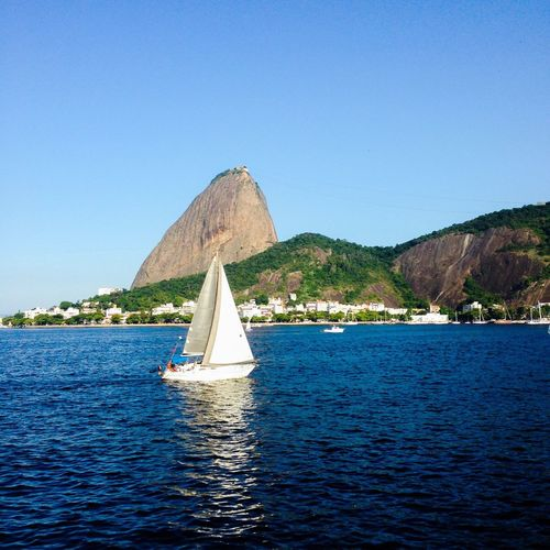 Blue Wave Blue Blue Sky Shades Of Blue Sea And Sky Sea Seaside Sea_collection Sea Life Sailing Sailboat Wind Enjoying Life Relaxing Relax Relax Time  Baia Da Guanabara Pãodeaçucar Sugarloaf Lifestyle Freedom Cityscapes