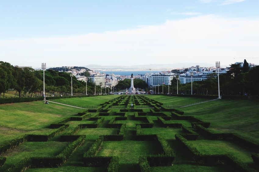 Typical photo of Lisbon Lisbon Sky Grass Tree Outdoors Symmetry Architecture