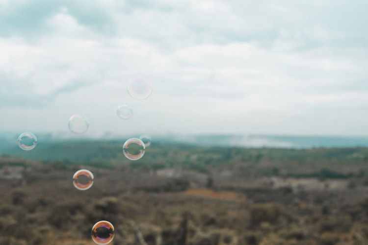 View of bubbles against sky