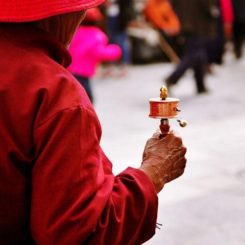 拉萨 大昭寺 转经 信仰 藏传佛教 Tibet Lhasa