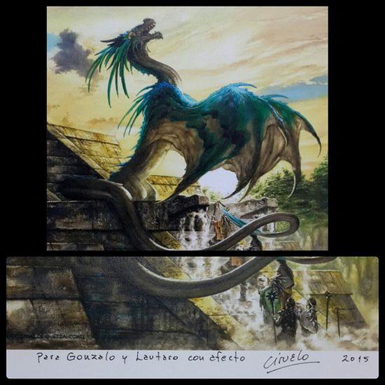 Gracias!! 😁 🐉 Quetzalcoatl Ciruelo Dragon Masterpiece feriadellibro buenosaires