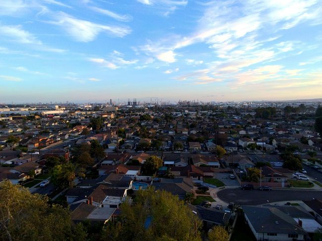 My husband and I got a Drone . City Cityscape Sky High Angle View Urban Skyline Aerial View Cloud - Sky Outdoors Dronephotography Drone Photography Droneshot Dronepointofview Yuneec Breeze Yuneec Southern California Carson, California