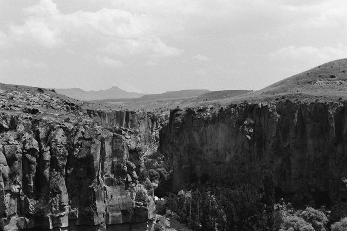 B/w Canyon Cappadocia Day Eroded Geology Mountain Nature Physical Geography Rock Rock - Object Rock Formation Rocky Rocky Mountains Turkey Voyage