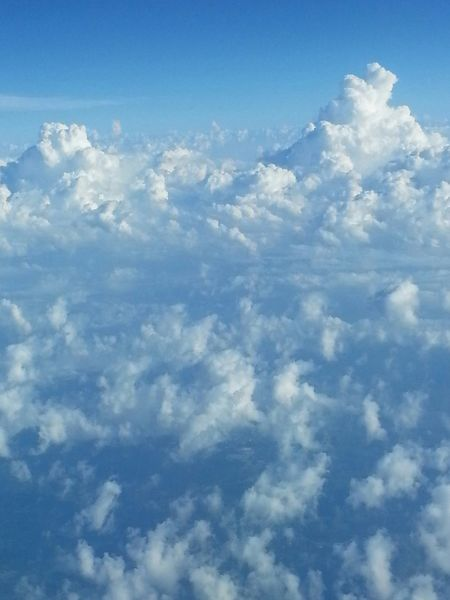 Somewhere Over The US In Flight Clouds Aerial Shot Fluffy Clouds Sky And Clouds Skyporn Blueandwhite
