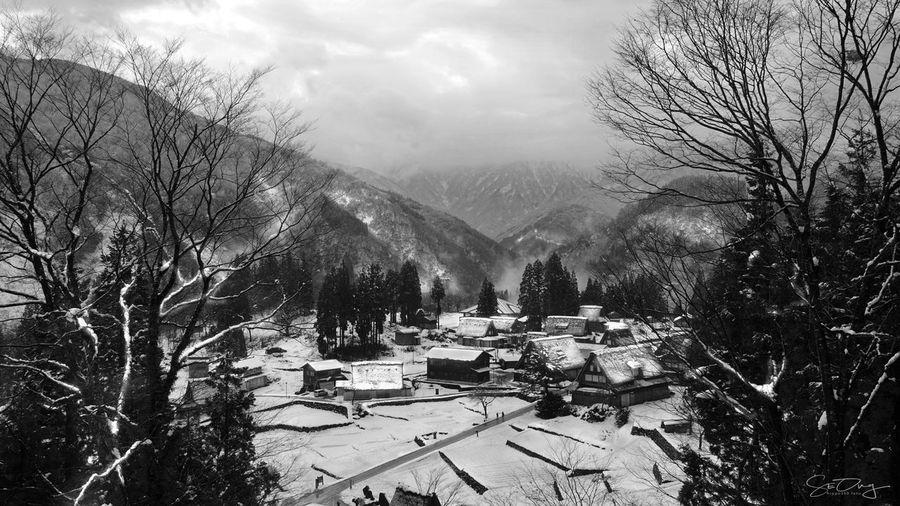 UNESCO World Heritage Site Winter Isolated Village Mountain Village Secluded Village Shiragawako Snow Unesco Villa Winterscene