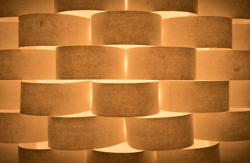 Full Frame Shot Of Illuminated Brown Wall