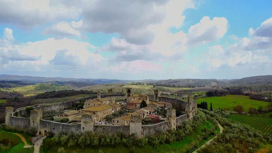 Monteriggioni, Toscana, Italia 🇮🇹 Mavic Pro Dji Drone  Cloud - Sky Sky Architecture Built Structure Building Exterior Landscape Plant Nature Environment Building Scenics - Nature Day Beauty In Nature No People Tranquil Scene History The Past Tranquility Land Growth