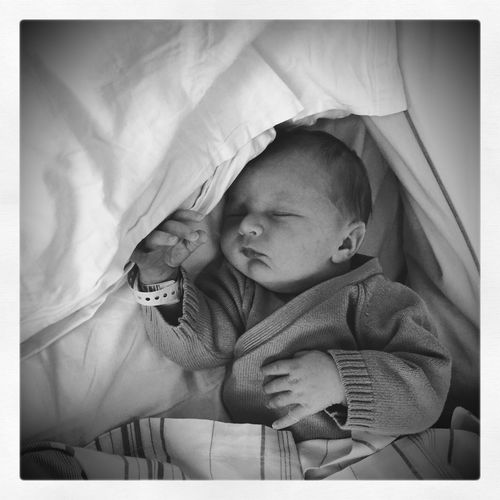 We Welcome The New Member Of Our Family My Son My Love Family EyeEm Best Shots - Black + White Hello World Portrait