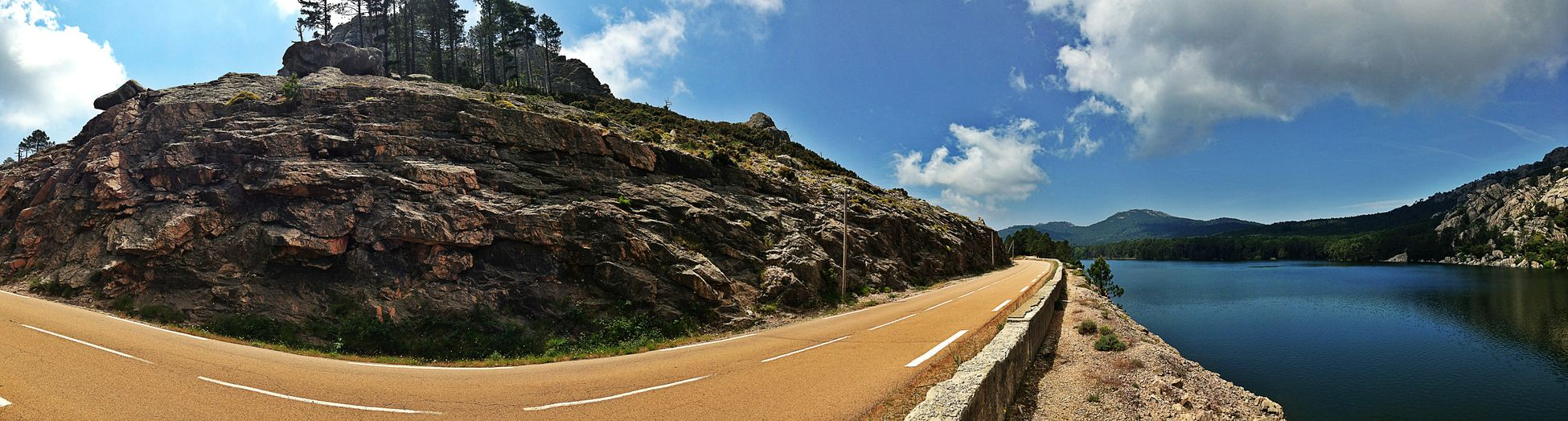 Panoramic shoot in corsica with my Galaxy s5 Nature Sky Horizontal Landscape Travel Destinations Outdoors Mountain No People Beauty In Nature Vacations Day