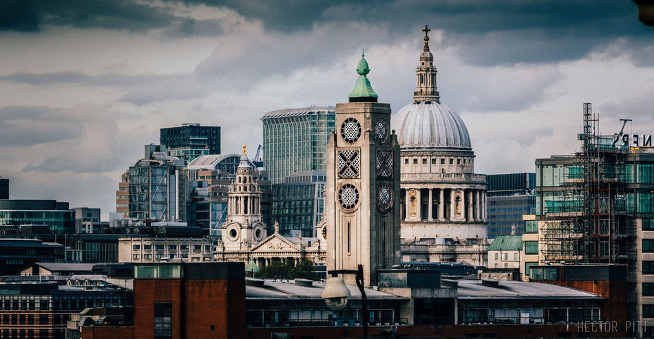 Architecture Building Exterior Built Structure City Cityscape Cityscape Clock Tower Cloud - Sky Day London No People Outdoors Oxo Oxotower Sky Sky And Clouds Skyline Skyscraper St Paul's Cathedral Tower Travel Travel Destinations Urban Skyline