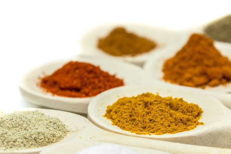 food ingredients Black Peppercorn Close-up Condiment Dried Food Food Food And Drink Freshness Healthy Eating Indian Food Indoors  Ingredient No People Powder Paint Spice Turmeric  Variation Yellow