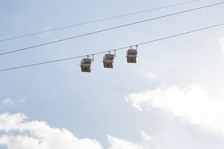 Cable cars.
