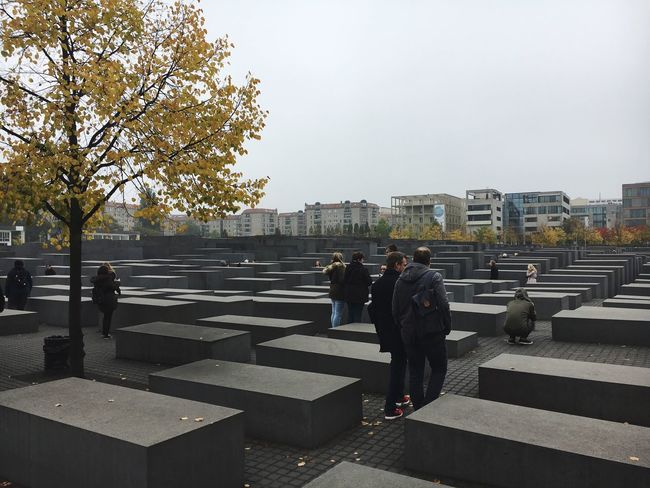 Architecture Outdoors City Built Structure Berlin Memorial Autumn Gray