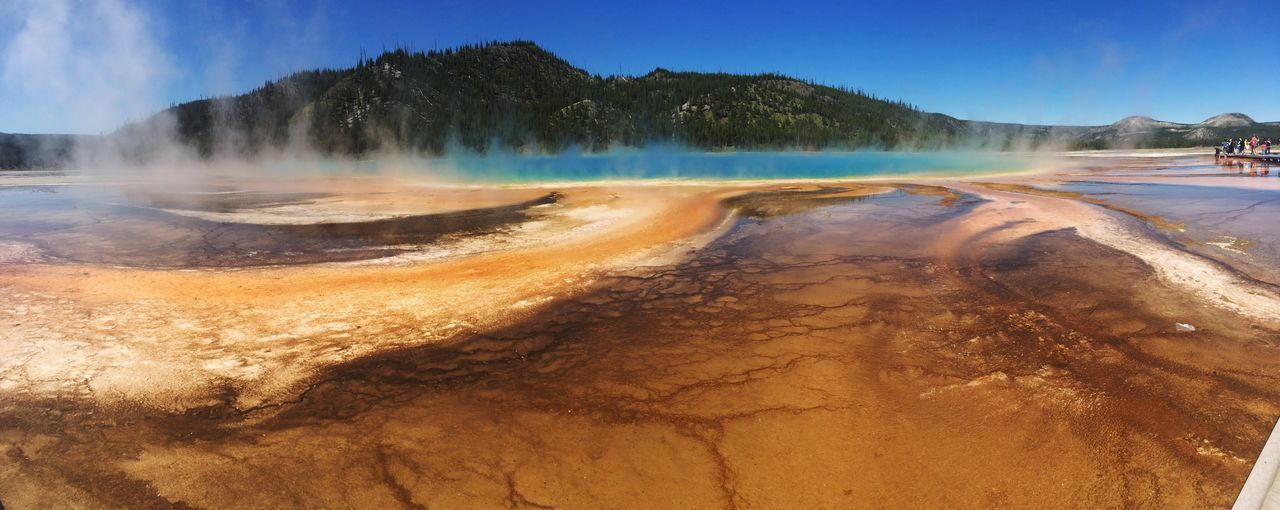 Panoramic View Of Hot Spring At Yellowstone National Park