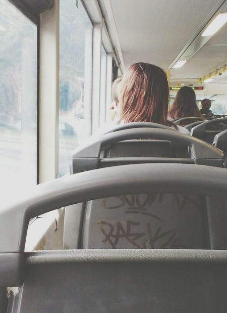 Bored Bus Girl Sad
