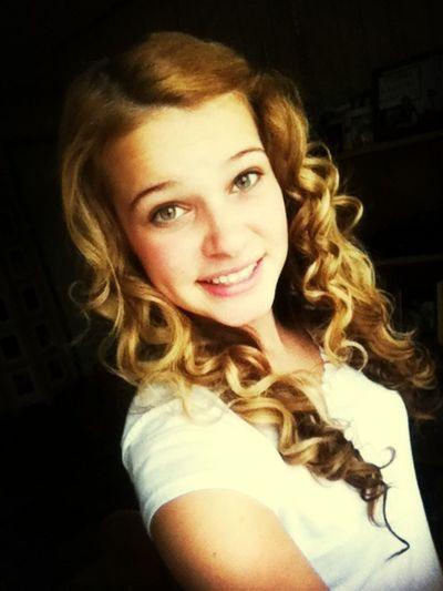 curled mckenzies hair :)