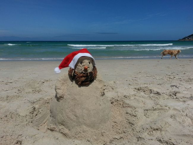Done That. Lost In The Landscape Beach Sea Sand Water Sky Horizon Over Water Nature Summer Day No People Outdoors Beauty In Nature Wave Sand Man Christmas Around The World Sandmen Sandmann Rethink Things An Eye For Travel