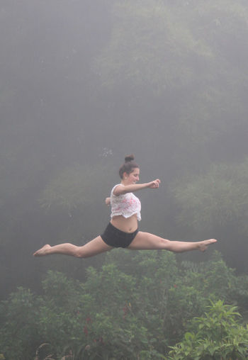 Air Bogotá Colombia Fast Fog Freeze Gimnastics Jump Mid-air No Edit/no Filter One Person People Portrait The Street Photographer - 2017 EyeEm Awards Young Women