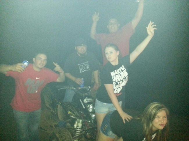 river nights, just some mud & fourwheelers (:
