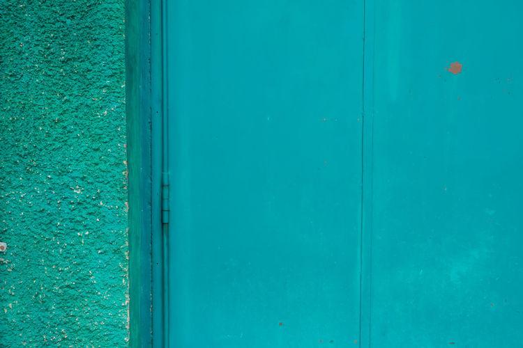 Full frame shot of blue door