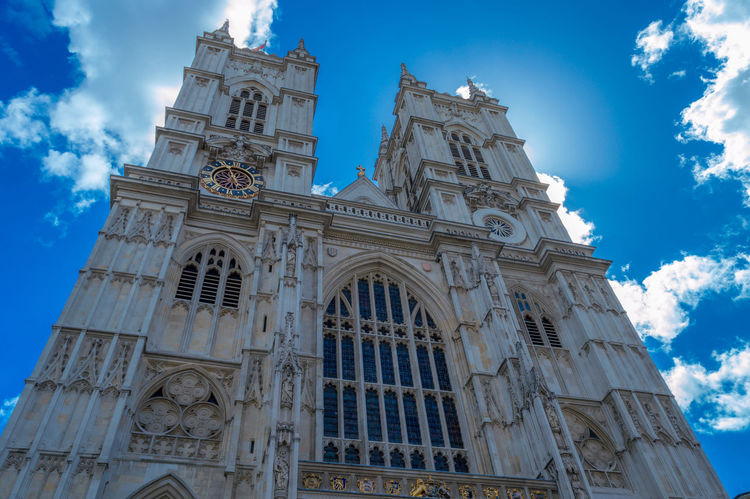 Abbey Arch Architecture Blue Sky Building Exterior Built Structure Cathedral Church Composition Culture Exterior Famous Place Historic History Leaning London Looking Up Perspective Religion Spirituality Westminster Abbey WOW The Architect - 2016 EyeEm Awards London Lifestyle