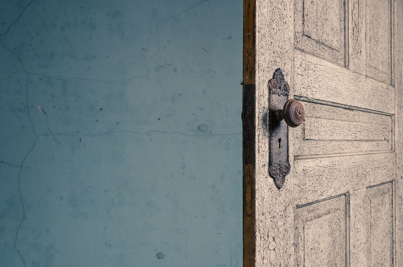Wooden Door Against Wall