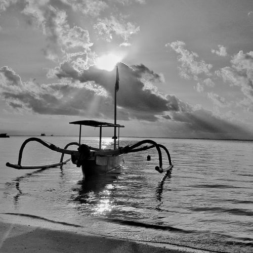 Outrigger In Sea