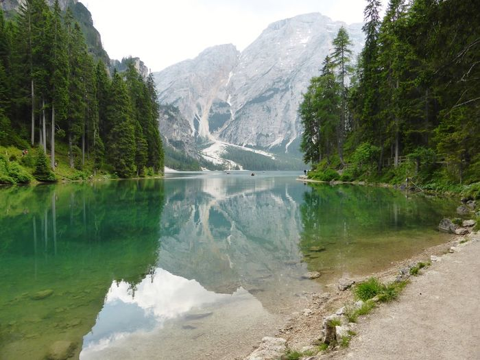 Lago di Braies Seekofel Mountains From My Point Of View Pragserwildsee Idyllic Magical Reflection South Tyrol Mountain Reflection Water Lake Mountain Range Tree Nature Scenics Beauty In Nature Outdoors Mountain Peak Day No People Tranquility Pinaceae Landscape Travel Destinations Sky Snow EyeEmNewHere
