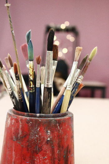 Paintbrush Art And Craft Equipment Bokeh Indoors  Close-up No People Still Life Day Heston Schoolphotography Canonphotography