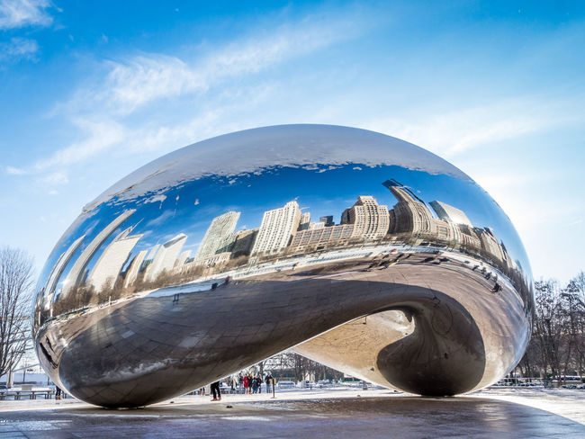 Bean shaped Chicago Chicago Cloud Gate Chicago USA Architecture Bean Building Exterior Built Structure Cloud - Sky Cloud Gate Day Nature No People Outdoors Sky Travel Destinations Water