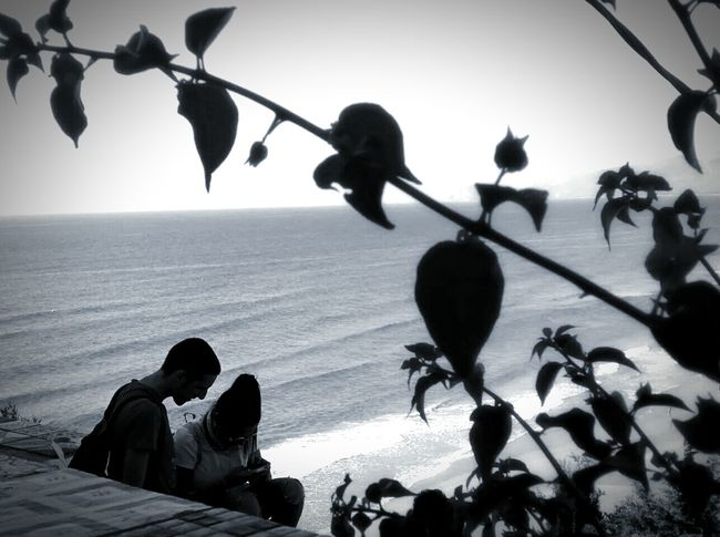 Keep Calm And Snap On Seaside Landscape_photography Trip Italy Sperlonga Sea BeW Black And White Photography