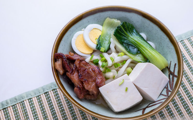 Close-up Comfort Food Food Food And Drink Freshness Healthy Eating Indoors  Japanese Food Lamb - Meat Leek Meal Meat No People Noodles Plate Ready To Eat Ready-to-eat Serving Size Table Tofu Udon Udon Noodles