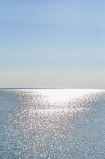 Beauty In Nature Blue Clear Sky Copy Space Day Horizon Horizon Over Water Idyllic Nature No People Outdoors Purity Scenics - Nature Sea Sky Sunlight Tranquil Scene Tranquility Water Waterfront