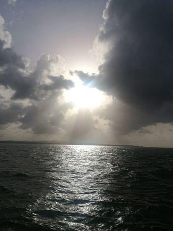 Water Sea Beach Sunlight Sun Awe Sunset Sunbeam Reflection Rippled