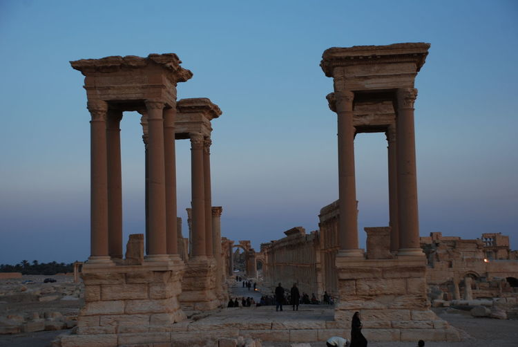 2009 Ancient Ancient Civilization Archaeology Architectural Column Architecture Day History No People Old Ruin Outdoors Palmyra Palmyra Ruins Roman Roman Gate Ruined Ruman Ruins Syrian Tetrapylon Tourism Travel Destinations