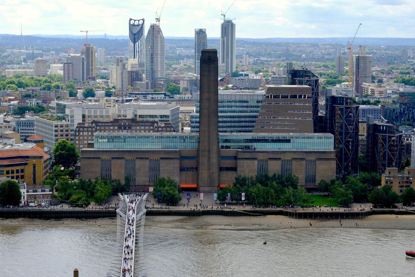a view from St-Paul's Herzog&deMeuron Architecture Bridge - Man Made Structure Building Exterior Built Structure City From St-Paul's Cathedral Outdoors River Skyscraper Tate Modern Water Waterfront EyeEm In London