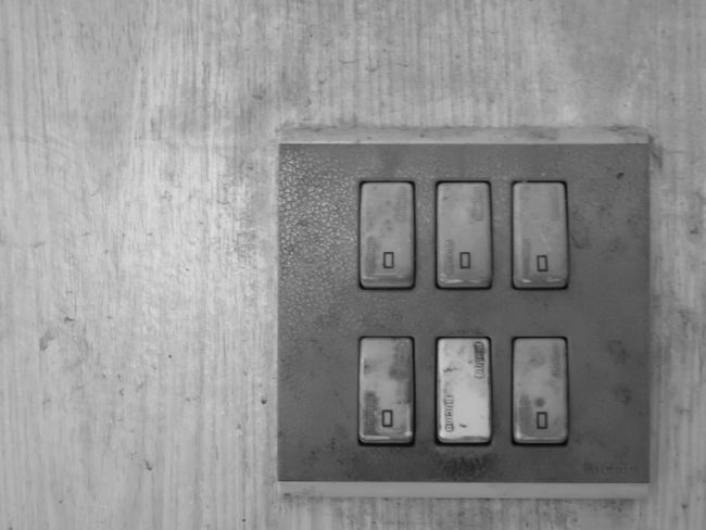 Light switch in home Close-up Closeup Day Electric Electricity  Electronic Equipment Home House Indoors  Light Switch Switch Switches Technology