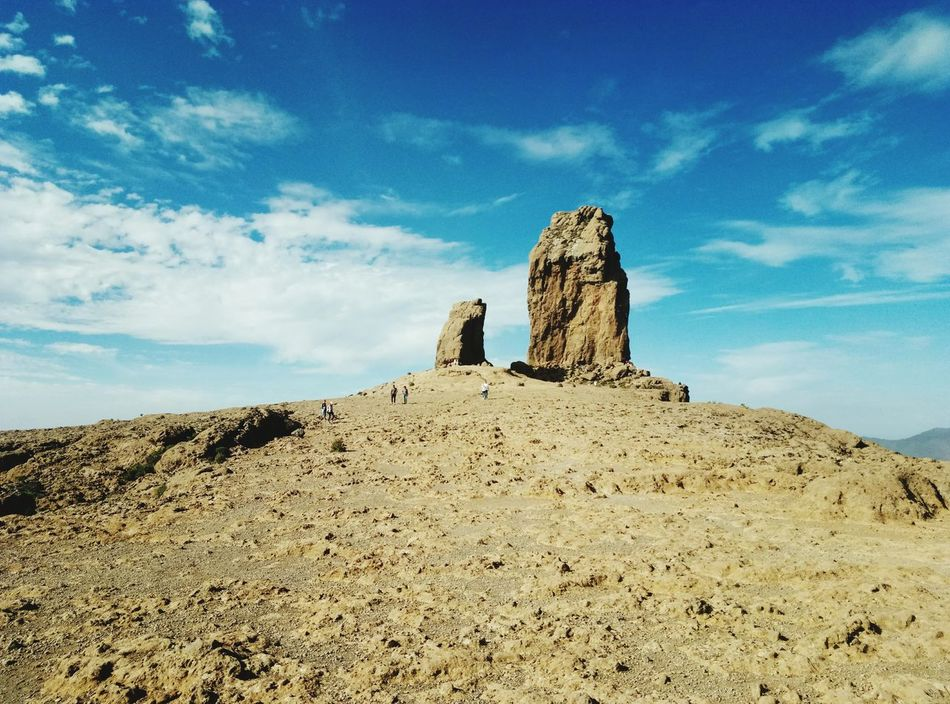 EyeEm Selects roque nublo Nature Gran Canaria Sky Mountain Range History Cloud - Sky Day Architecture Sand Outdoors No People Sand Dune Ancient Civilization Mountain Rock Nublo Roque Nublo Go Higher