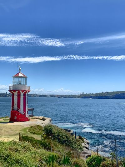 Lighthouse clear Sydney Sydney Photography Water Sea Sky Cloud - Sky Lighthouse Scenics - Nature Beach Nature Outdoors Protection Day No People Safety Architecture