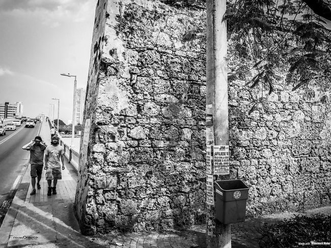 Cartagena street photography Architecture Built Structure Building Exterior Day Outdoors Men Sky People