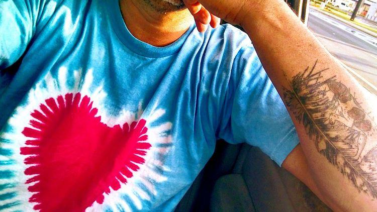 EyeEm Selects BigHeart❤️ Red Close-up EyeEm Best Shots Sexyboy Tanned Skin Tyedyedlife Tyedyed Blue Driving Dogtattoo Inkeddude Inked Feathertattoo Bff Mansbestfriend Onpoint Huntingdogtattoo Pookie