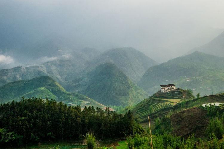 Beauty In Nature Foggy Green Color Hill Landscape Mountain Mountain Range Nature Nature Outdoors Sapa Vietnam Sapa, Vietnam Scenics Traveling Valley Vietnam View