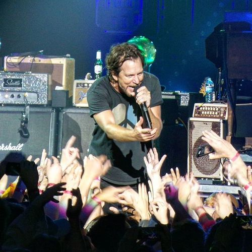 Eddie Vedder serenading fans at Toronto's Pearljam PJtour2016 last night. What a night!!! Thanks RogersSI for the sweet seats! Rogers City Life Canada Explorecanada Concert Live Music Rock Rocknroll Grunge Aircanadacentre Toronto
