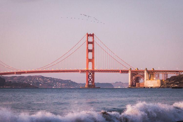 Golden gate bridge against sky