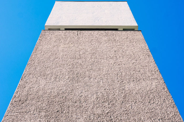 Berlin Berlin Photography Angles Angles And Lines Architecture Berliner Ansichten Blue Building Exterior Concrete Concrete Jungle Day Geometric Shape Geometry Low Angle View No People Outdoors Sky Sunny Tall - High Textured  Wall Wall - Building Feature