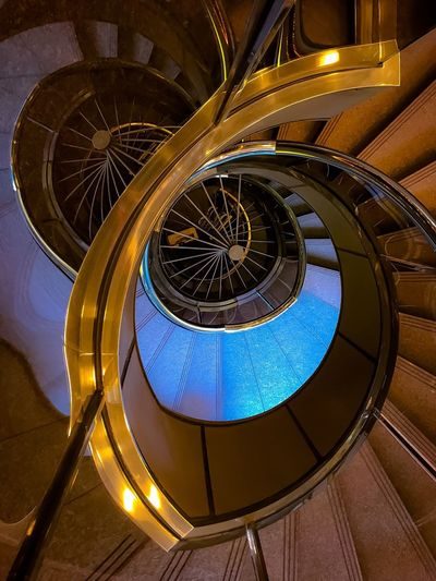 look into the depths 階段が大好きダᵕ̈ Spiral Staircase Steps And Staircases Spiral Architecture Built Structure Spiritual My favorite place Interior Design Building Looking Down Look Into The Darkness  Day Tokyo,Japan