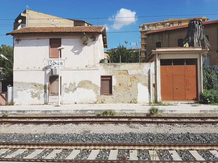 Old station Outdoors Building Exterior Sky No People Day Architecture Built Structure Train Station Train Agrigento Sicily
